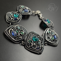 BLUEBELLS - filigree bracelet by JoannaWatracz