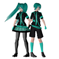 MMD Love Is War Miku And Mikuo Models by ChiharuYuuka