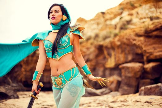 Warrior of Agrabah - Jasmine Cosplay by raquelsparrowcosplay