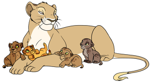 Father and Cubs Adoptables 2 .:Closed:. by Inori-Hime