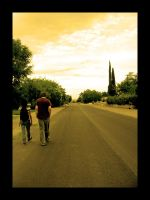 Walking with you by Chexee