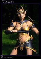 Druchii  Dark Elf Bikini Armor by farmerownia