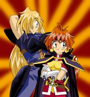 Lina and Gourry 2 by AmayaKouryuu