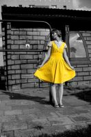 yellow dress . by zaspana