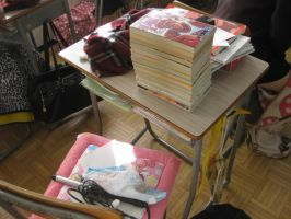 Japanese Students' Desk by JeanneABeck