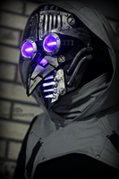 Transient virtue - Cyber plague doctor mask by TwoHornsUnited