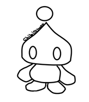 neutral chao lineart by Chibiteretsu