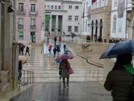 Coimbra under rain  - Homage to Caillebotte by Rikitza
