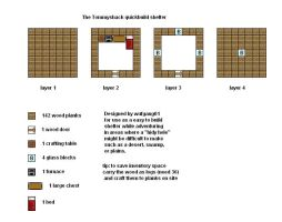 Minecraft Floorplans Tommyshack by ColtCoyote