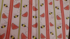 Red Pants and Bees Fabric by Timestitcher