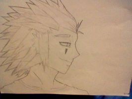 Axel Kingdom Hearts Side Shot by KeybladeWarrior666