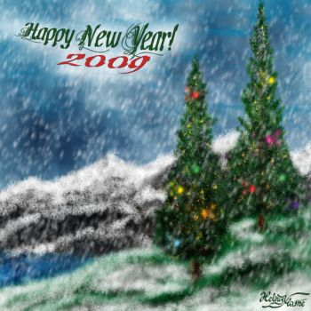Happy New Year 2009 by HeliusFlame