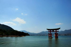 floating torii by l337Jacqui