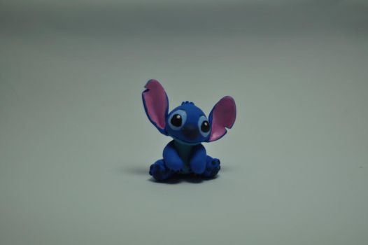 Stitch Clay Sculpture (Miniature) by chinggay