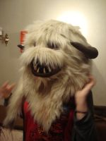 Wampa Head side view by MonstrositiesNZ