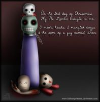 My Pet Zombie Christmas Day 3 by fallnangeltears