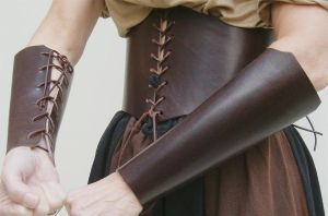 Leather bracers by JanuaryGuest