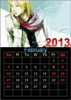 Hetalia 2013 Calendar-February by Inevitable98