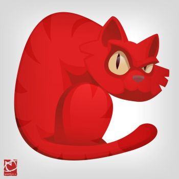Color Animals - Red Cat by romith
