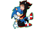 Commission: Sonic Hug by ChaosWhite180