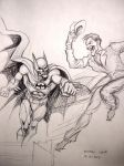 Batman versus Joker by myconius