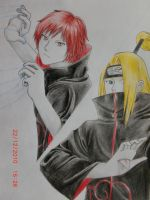 Sasori and Deidara by hanakoofthejungle