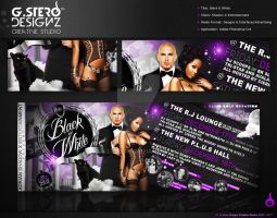 Black N White-Back Party Flyer by Gallistero