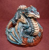 Completed Dragon piece view 2! FOR SALE! by Meadowknight