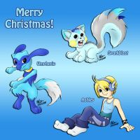 Merry Blue Christmas by meleemonkey