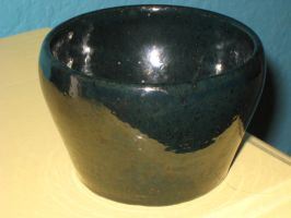 Dark Teal Ceramic Bowl by IrishEyes2490