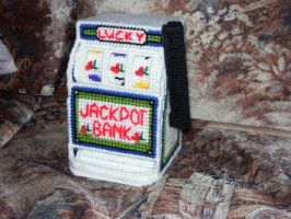 Slot machine coin bank by ladytech