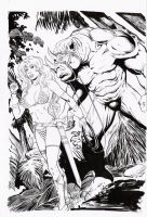 red sonja e rinoman by amorimcomicart