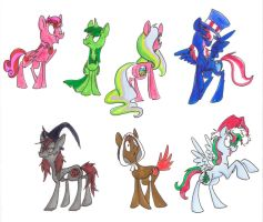 Holiday ponies by Ghost-Peacock