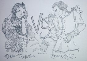 Maria Theresa VS Frederick the Great by Calamity-Death