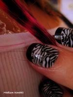Zebra Nails 2 by MadisonKendall