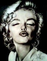 Marilyn Monroe Pencil Portrait by PrehistoricGiraffe