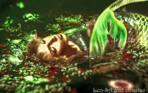 sleepy mermaid by Lolita-Artz