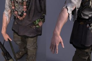 Uncharted_Nathan Drake_Arm Close by darkmummy