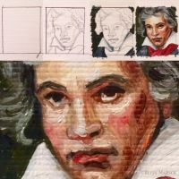 Minuscule Betthoven II in stages by Paintsmudger