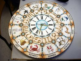 Zodiac clock by RhapsodyArt