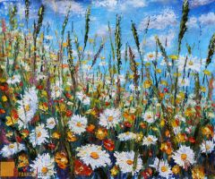 Flower painting Glade summer flowers. by wwwrybakowcom