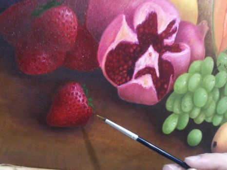 Oil painting detail 1 by GeovannyFons