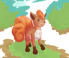 Again ... Vulpix by LiitTutubi