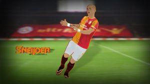 Wesley Sneijder Vector Wallpaper by SemihAydogdu