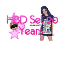 Texto PNG HBD Sel 20 Years by Melody478