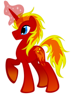 MLP OC: fire thrower by lizzytheviking