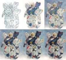 Nu Gundam Step by Step by Trunnec