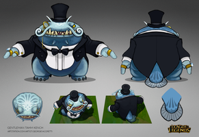 Gentleman Tahm Kench - Skin Concept by fivetinsoldiers
