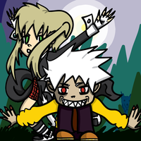 Maka and Soul Halloween Werewolves 2015 by LuckySoulStarEater