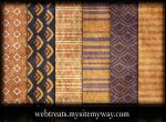 Orange Violet Grungy Patterns by WebTreatsETC